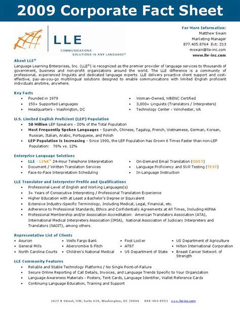 pr fact sheet template corporate fact sheet on behance