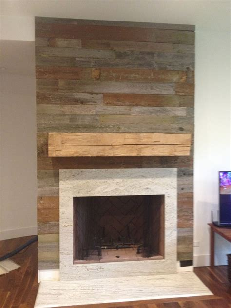 foyer bois reclaimed wood fireplace surround and mantel fireplaces