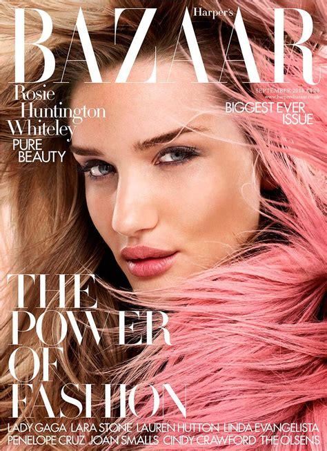 Is Cover Of Harpers Bazaar by Rosie Huntington Whiteley Covers S Bazaar S