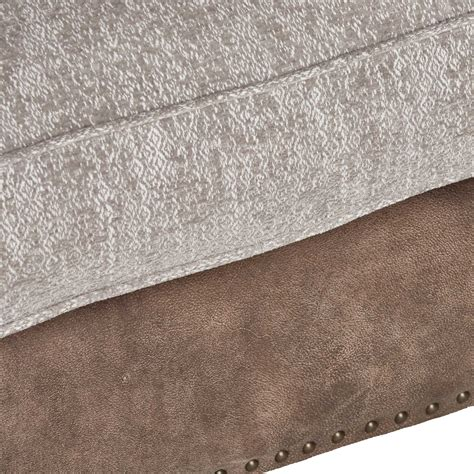 leather and fabric sofa mix darwin grand leather and fabric mix pillow back sofa
