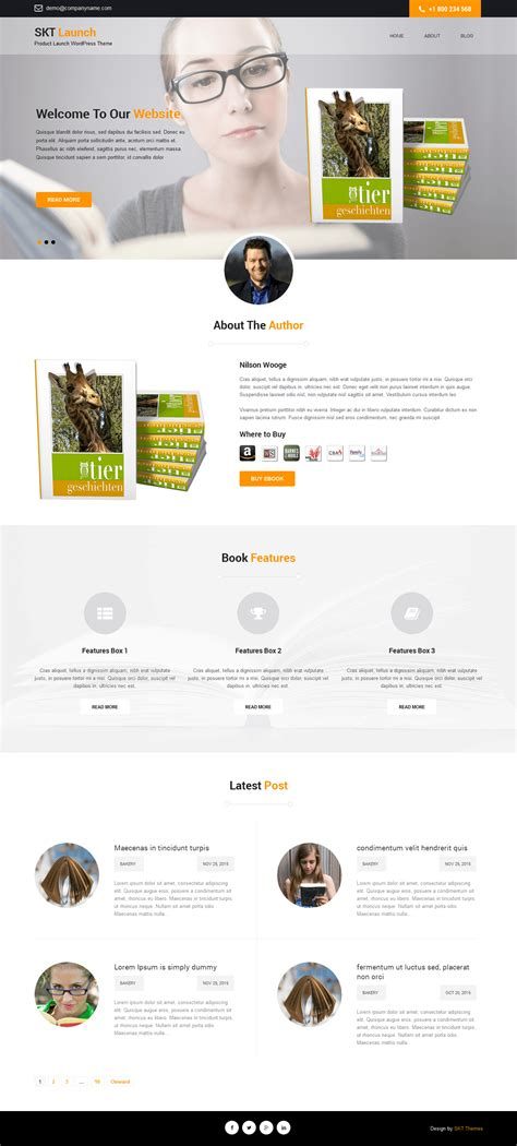 design by skt themes free product launch wordpress theme for product websites
