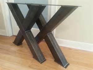 Metal Table Legs 4 Steel Table Legs Oversize X Metal