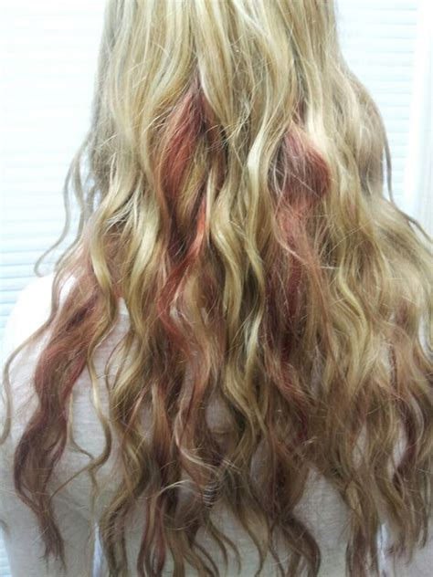 hairstyles blonde top red underneath low lights blonde hair and blondes on pinterest