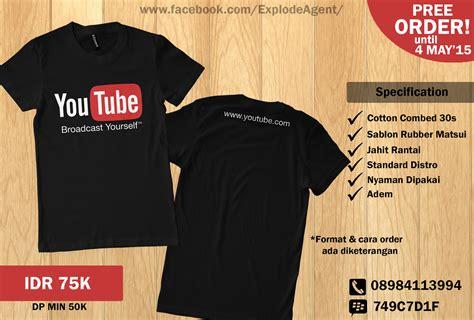 Tshirt Kaos Youtubers jual kaos you april 2015 sedikit berbagi