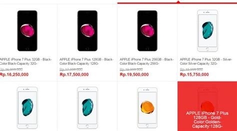Hp Iphone 6 Plus Di Indonesia di indonesia harga iphone 7 dijual hingga rp 20 juta