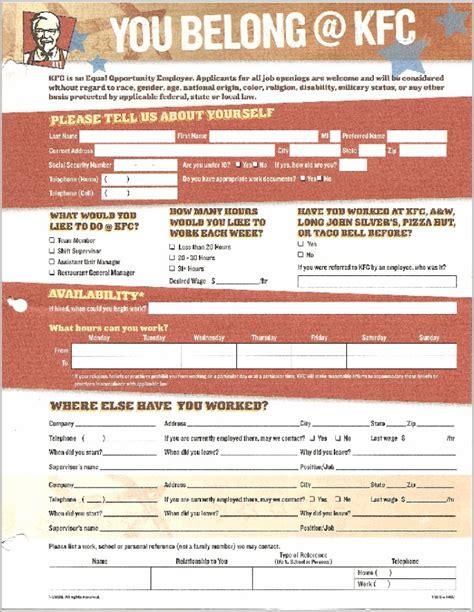 levis printable job application kfc job application form print out job application