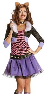 Monster costumes gt gt deluxe clawdeen wolf monster high kids costume