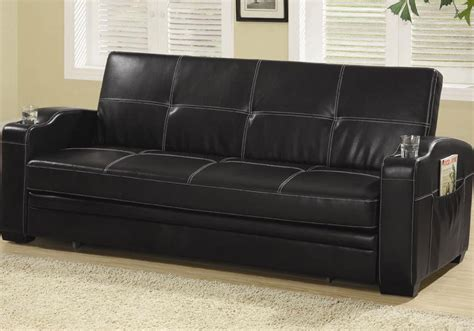 black pull out couch black leather pull out sofa bed lpd detroit faux leather