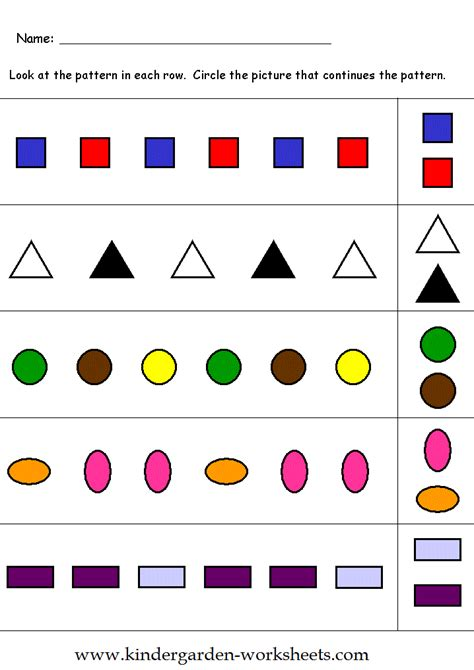 pattern games for kindergarten kindergarten worksheets kindergarten pattern worksheets