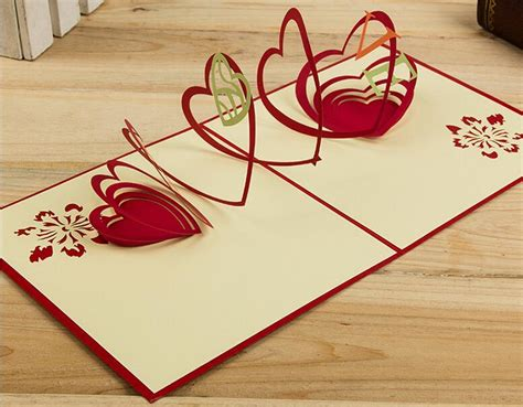 Origami 3d Card - hollow handmade kirigami origami 3d pop up greeting