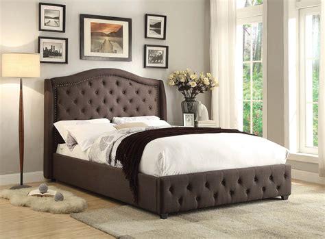 dark grey upholstered bed homelegance bryndle upholstered bed dark grey 1882n 1
