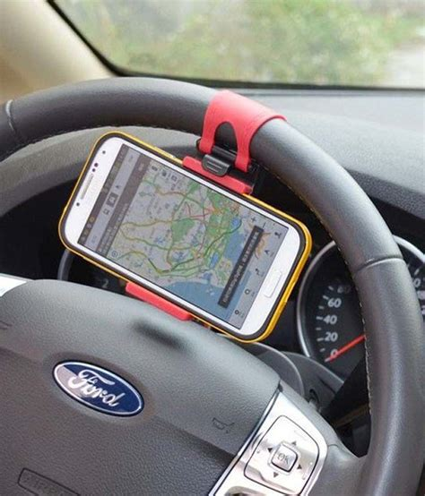 Steering Mount   Car Mobile Holder: Buy Steering Mount