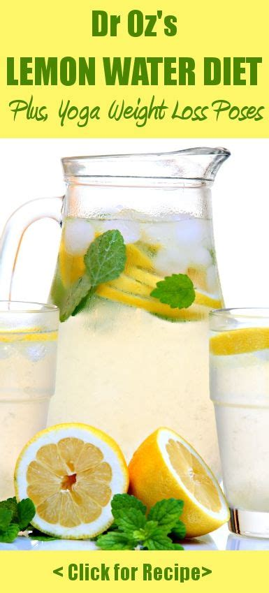 Lemon And Water Detox Diet by Dr Oz Pose To Lose Weight Lemon Water Detox Recipe