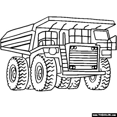 coloring page of dump truck trucks online coloring pages page 1