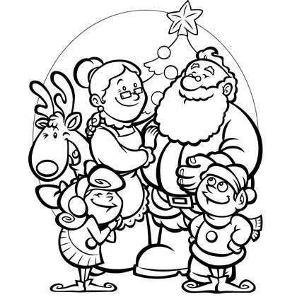 santa coloring page pdf santa s family coloring page color in this cute christmas