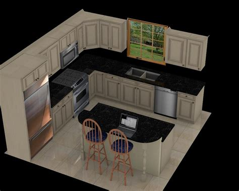 luxury 12x12 kitchen layout with island 51 for with 12x12 - 10 X 12 Open Floor Kitchen With Island