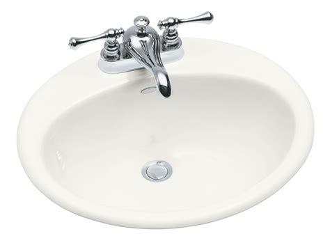self rimming bathroom sinks kohler farmington self rimming bathroom sink in white the home depot canada