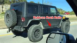 jeep rubicon rock rails upgrade trim and install coming