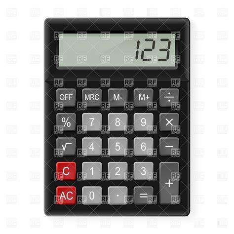 free calculator black calculator vector image 6914 rfclipart