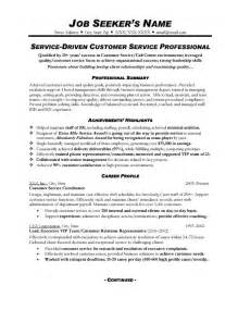 exle of customer service resume customer service resume sle