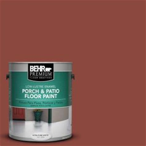 behr premium 1 gal pfc 10 terra cotta low lustre porch and patio floor paint 630001 the