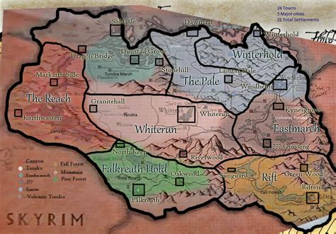 map of skyrim skyrim map locations image skyrim the elder scrolls mod for mount blade warband mod db