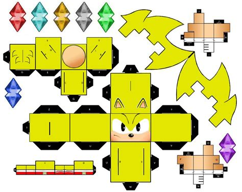 Sonic The Hedgehog Papercraft - sonic x paper crafts
