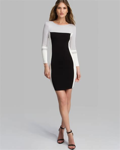 neck color block dress lyst dress boat neck color block sweater in white