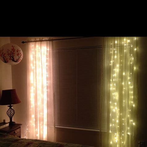 White lights behind sheer curtains why didnt i think of that
