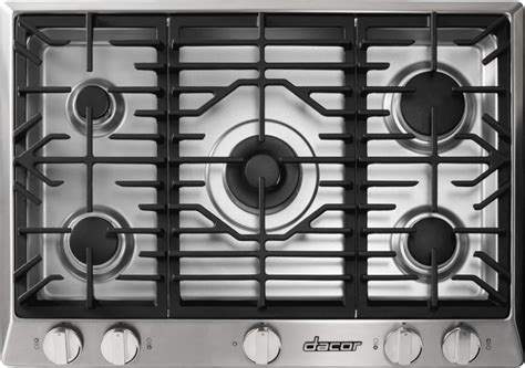 Dacor 36 Inch Gas Cooktop - dacor rnct365gsng 36 inch gas cooktop with 5 sealed