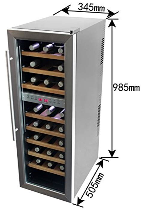 Sale Steel Rack For Automatic Gate Ct Steel homeimage dual zone thermal electric wine cooler with stainless steel door wooden rack for 27