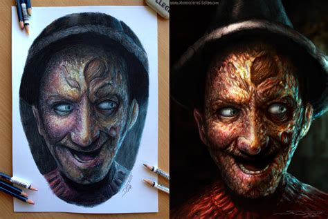 my freddy pencil and digital drawing by atomiccircus on