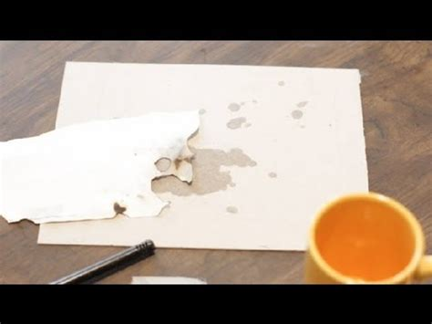 How To Make Burnt Paper - how to burn the edges of paper to make it look paper