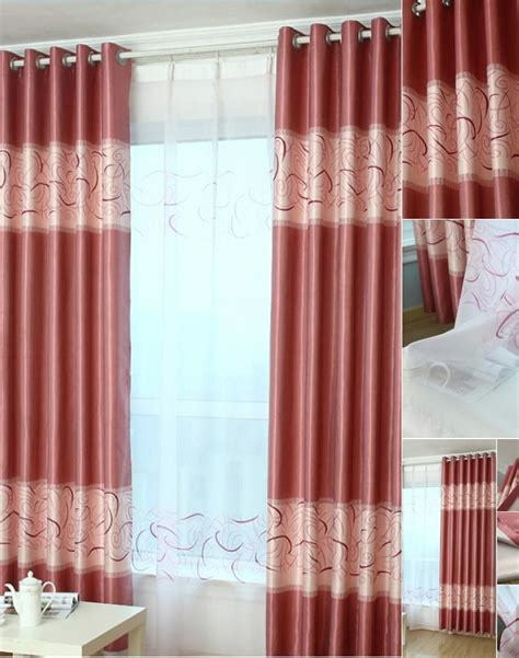 red and white geometric curtains red geometric print polyester insulated modern bedroom