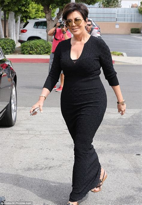 does kris jenner have a long neck for short hair kris jenner showcases her curvy derriere in a skintight