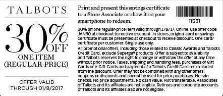 printable coupons talbots outlet printable coupons in store coupon codes talbots coupons