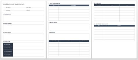 Getting Started With Data Governance Smartsheet Information Governance Policy Template