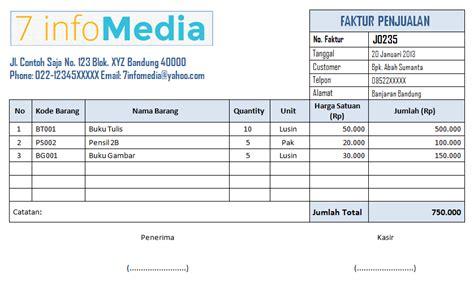 format buku penjualan contoh faktur penjualan