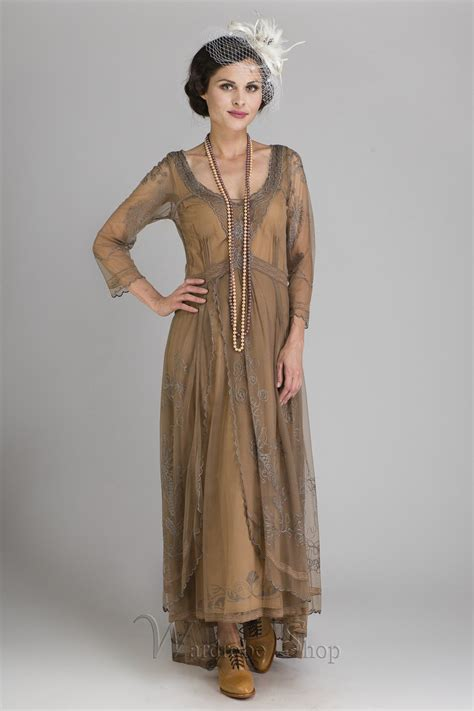 Dress Model Style Pink Blue Brown Impor beautiful downton inspired dresses to buy