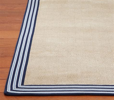 jute rugs with borders chenille jute stripe border rug pottery barn