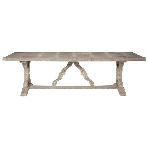 Distressed Gray Dining Table Ronald Country Indoor Outdoor Distressed Grey Dining Table Kathy Kuo Home
