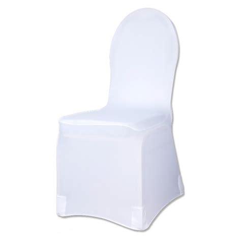 housse de chaise mariage lycra housse de chaise blanche en tissu elastique lycra