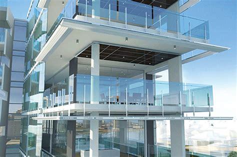 aquila apartments frameless glass balcony balustrade by