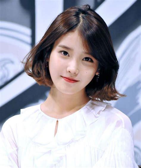 korean actress haircut cute iu short hairstyle hairstyle pinterest short