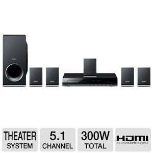 buy sony 300 watts 5 1 channel dvd home theater surround