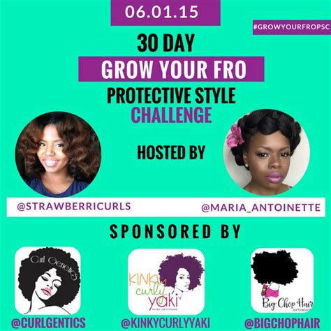 natural hair protective style challenge 30 day grow your fro protective style challenge starts