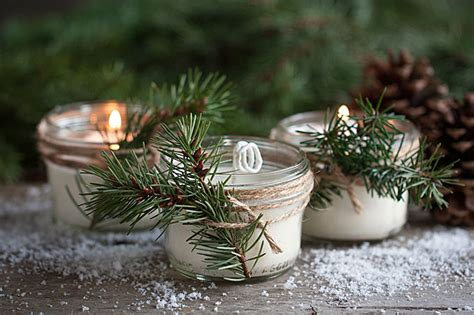 pinecone scented soy candles party inspiration