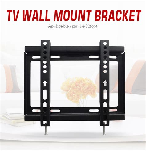 Bracket Tv Led Lcd 14 32 Inch Bahan Tebal Dan Kokoh oversea lcd led tv wall mount bracket support for lcd led 14 19 22 23 26 27 28 29 32 inch