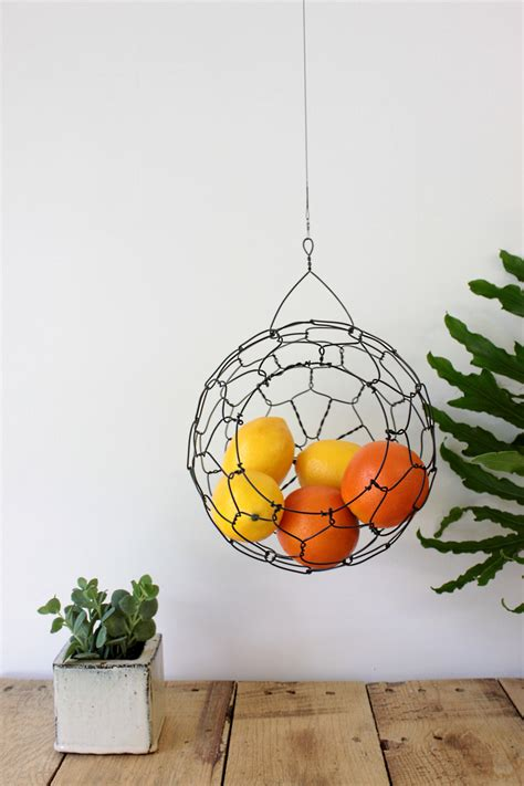Simple Ideas For Hanging Wire Basket Wire Basket Hanging Basket Fruit Basket Farm House Vintage