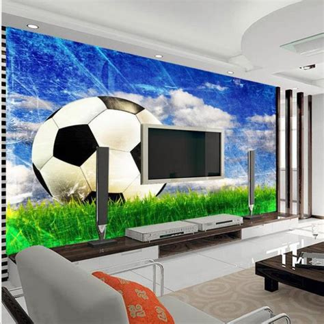 Football Murals For Bedrooms by Customize 3d Football 3d Living Room Bedroom Tv Background